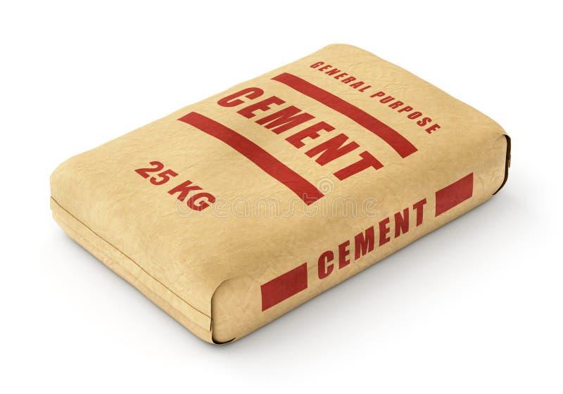 水泥袋子 向量例证