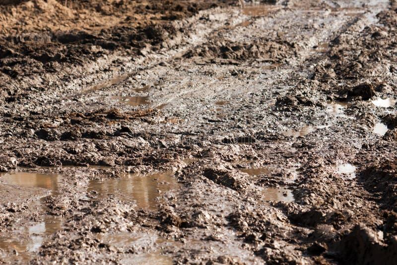 泥路跟踪 库存图片