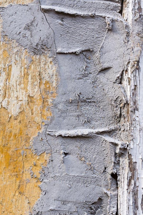 水泥黑暗的坏的grunge老墙壁 免版税库存照片