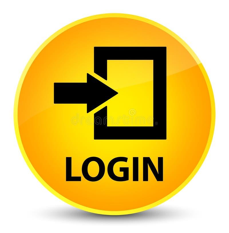 插画 包括有 按钮, 日志, 进入, 符号, 登录, 黄色, 图标 - 10385959