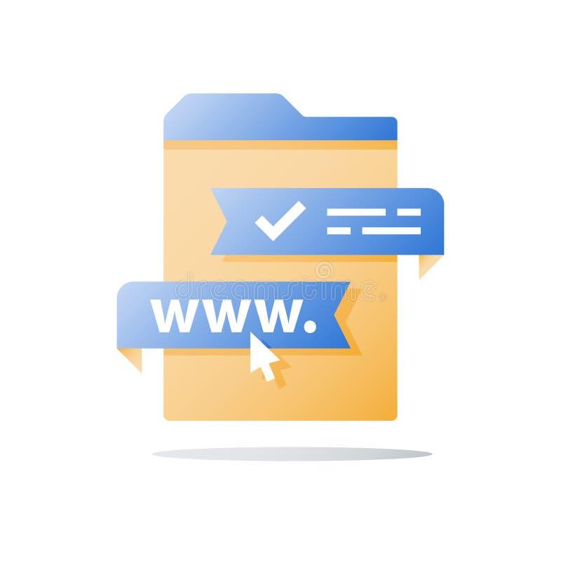 注册和注册,教育网上路线,网训练课,遥远的检查,讲解通入,游标箭头 向量例证