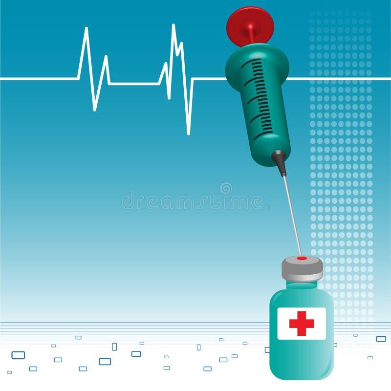 注射器小瓶 向量例证