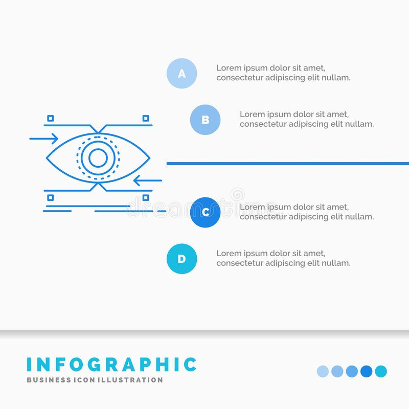 注意、眼睛,焦点,看,视觉Infographics模板网站的和介绍 r 向量例证