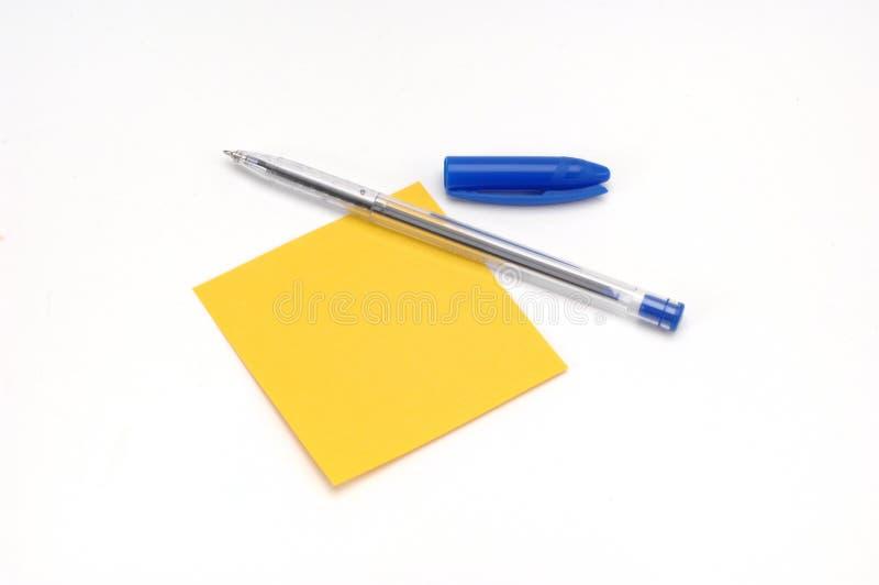注意粘性笔 库存照片
