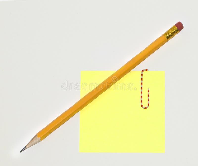 注意粘性铅笔 库存图片