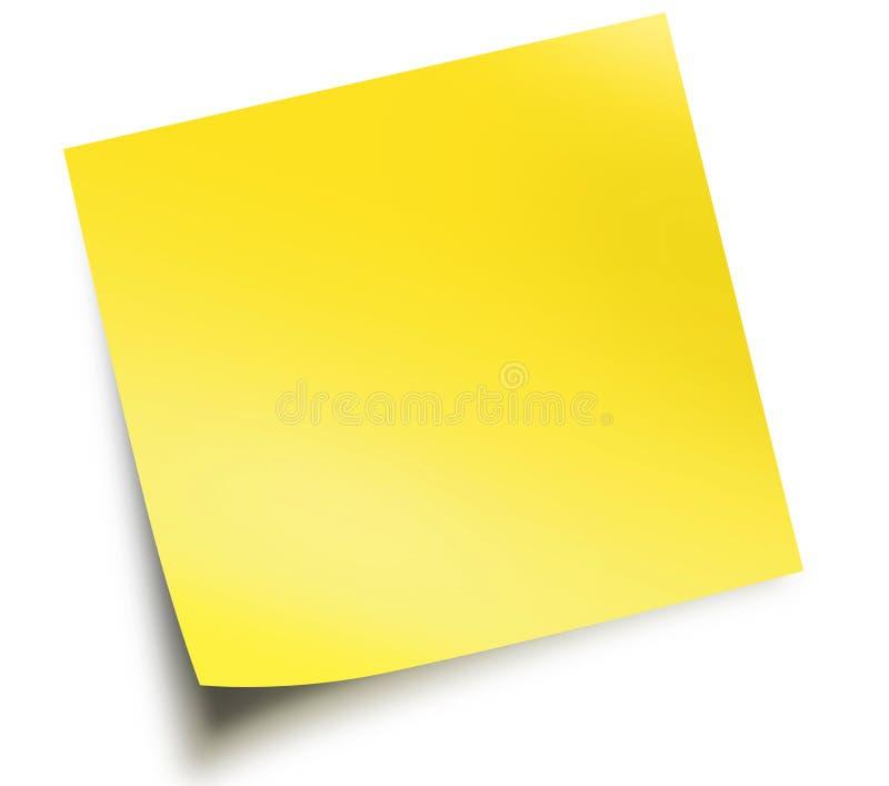 注意粘性黄色 皇族释放例证