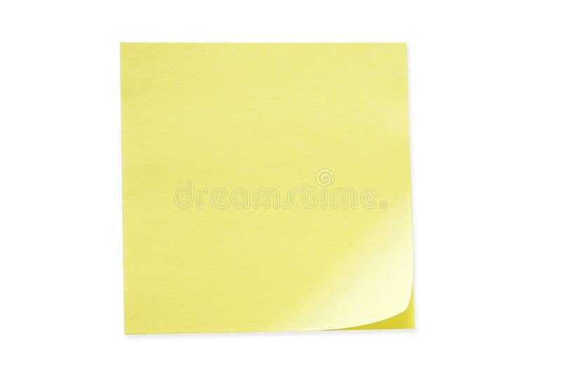 注意粘性黄色 免版税库存照片
