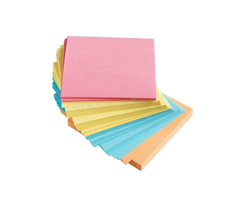 注意粘性 备忘录棍子或岗位笔记 免版税库存照片