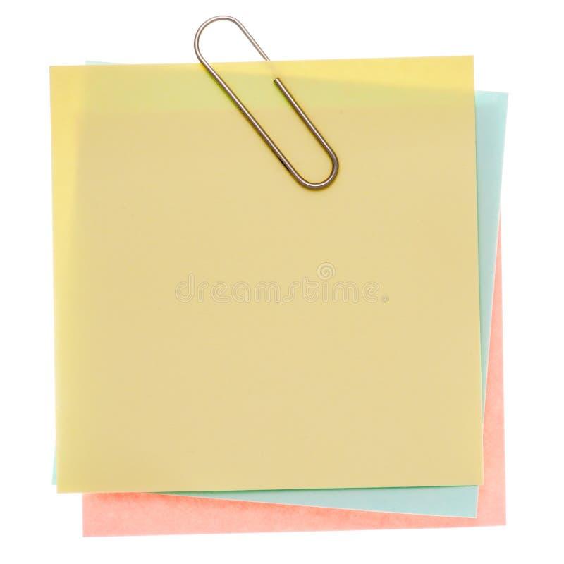 注意过帐黄色 免版税库存图片