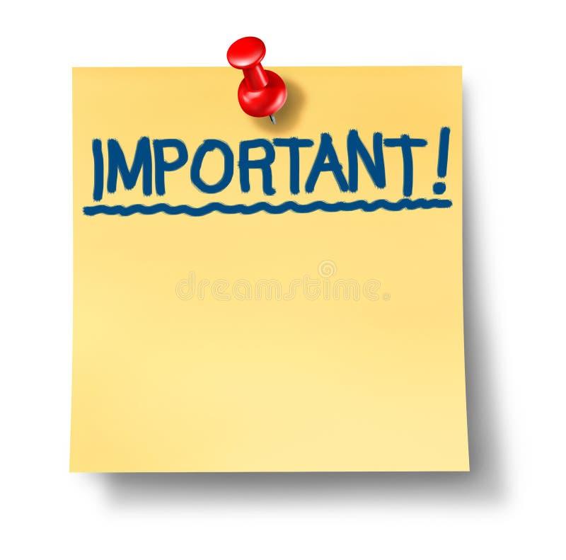 注意重要重要办公室过帐提示 库存例证