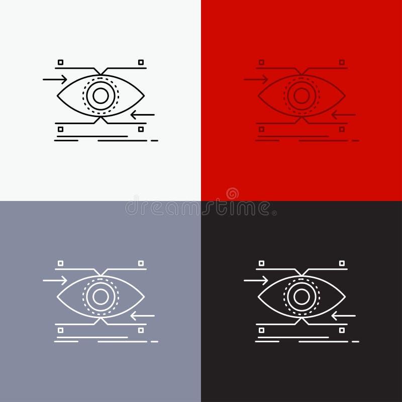 注意,眼睛,焦点,看,在各种各样的背景的视觉象 r EPS 10?? 皇族释放例证