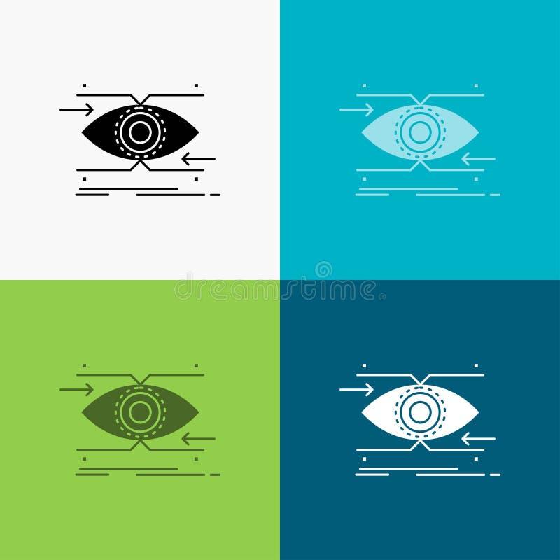 注意,眼睛,焦点,看,在各种各样的背景的视觉象 r EPS 10?? 向量例证