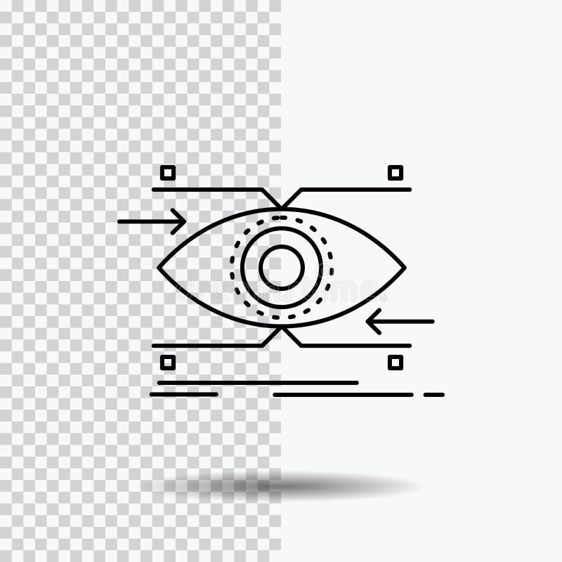 注意,眼睛,焦点,看,在透明背景的视觉线象 r 库存例证