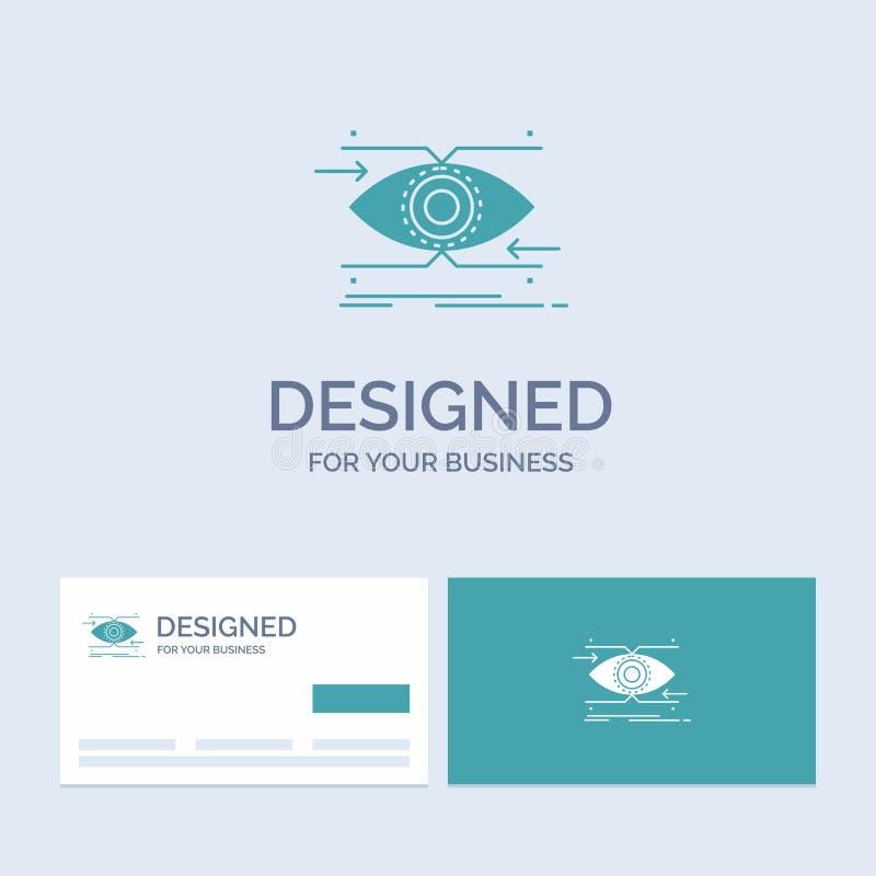 注意,眼睛,焦点,看,视觉企业商标纵的沟纹您的事务的象标志 r 皇族释放例证
