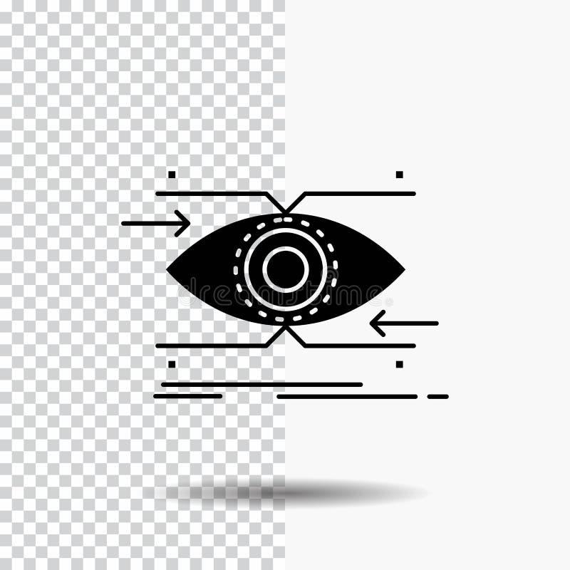 注意,眼睛,焦点,看,视觉在透明背景的纵的沟纹象 ?? 皇族释放例证