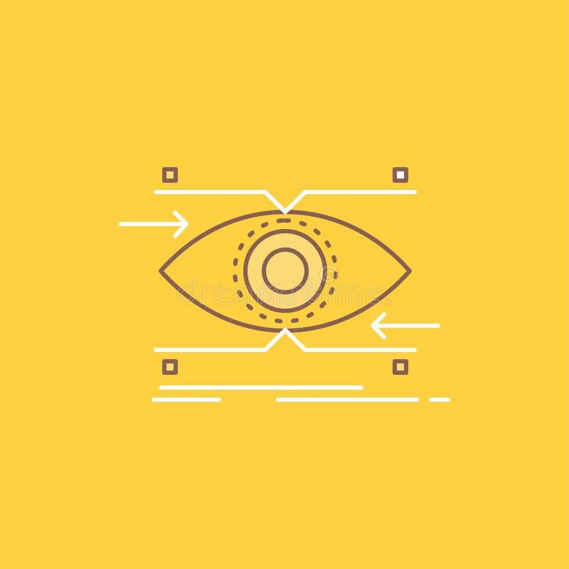 注意,眼睛,焦点,看,视觉平的线填装了象 r 皇族释放例证