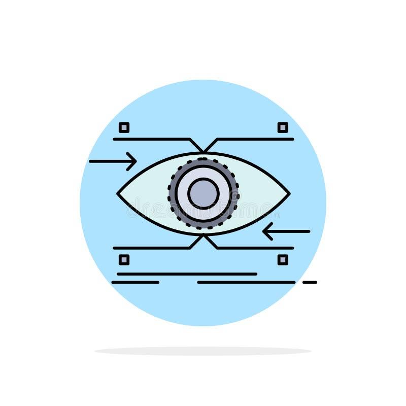 注意,眼睛,焦点,看,视觉平的颜色象传染媒介 皇族释放例证