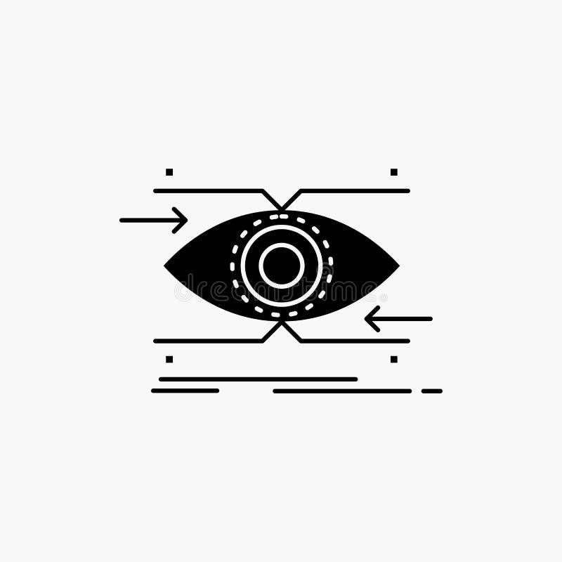 注意,眼睛,焦点,看,视觉纵的沟纹象 r 向量例证