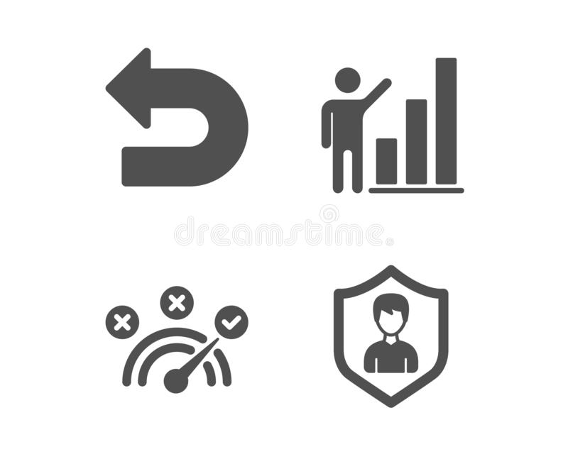注标图,取消和正确答案象 安全机关标志 成长报告,左拐,速度标志 ?? 向量例证