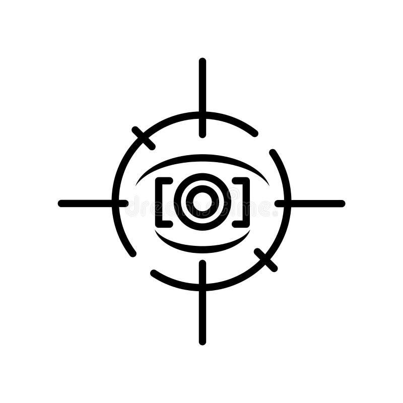 注视轻拍在白色背景隔绝的象传染媒介,眼睛轻拍标志, 库存例证