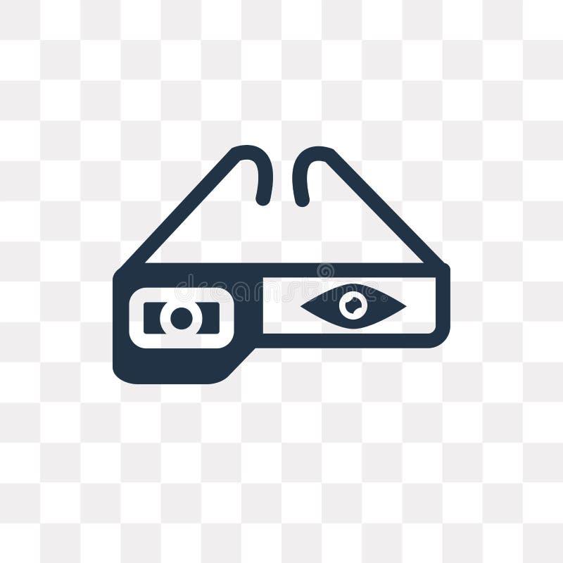 注视轻拍在透明背景隔绝的传染媒介象,眼睛轻拍 库存例证