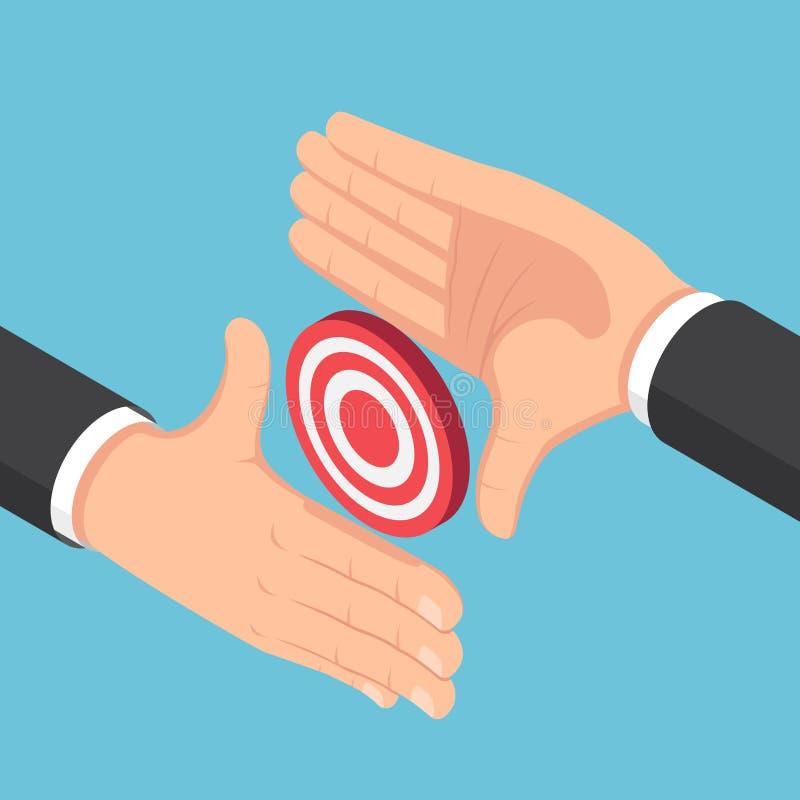 注重等量的商人做一个框架用手和  向量例证