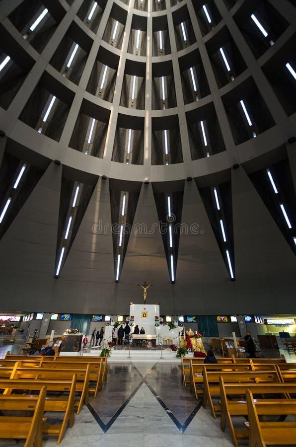 泪花的玛丹娜的圣所在西勒鸠斯在西西里岛 免版税库存照片