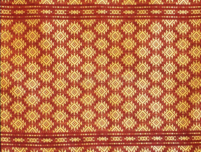 泰国丝织物的模式 库存照片