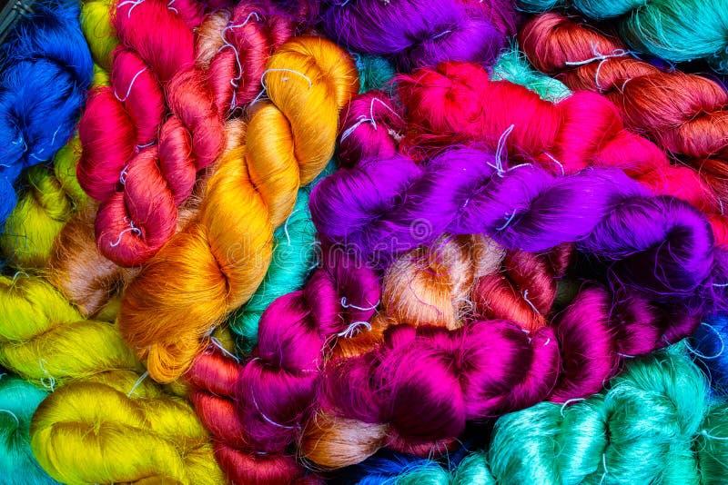 泰国丝绸螺纹 库存照片