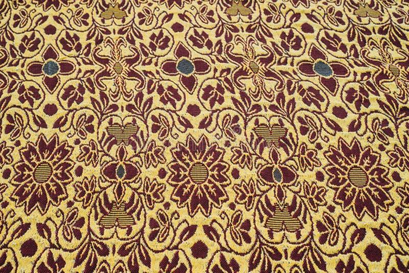 泰国丝绸木套鞋背景 图库摄影