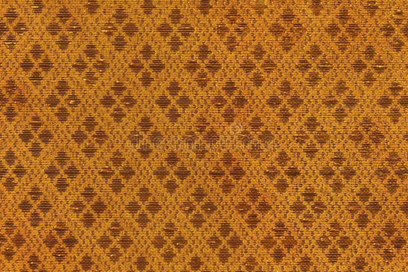 泰国丝织物无缝的编织样式纹理背景 免版税库存照片