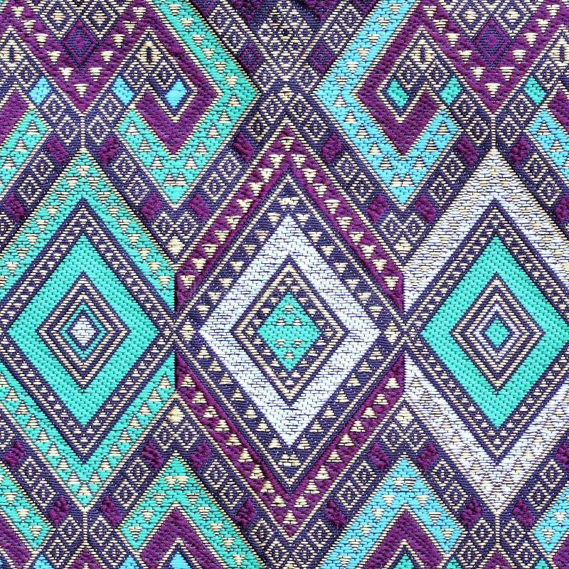 泰国丝织物样式 免版税库存照片