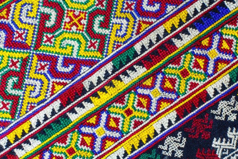 泰国丝织物样式 免版税图库摄影