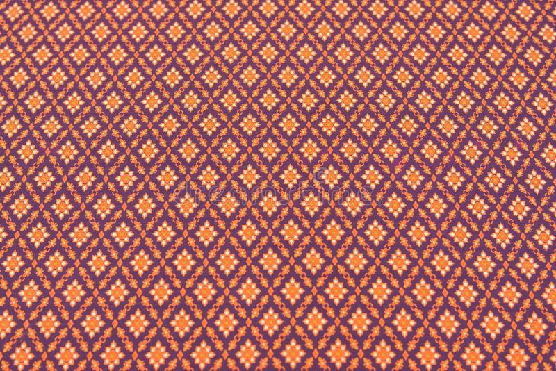 泰国丝绸美好的纹理  免版税库存照片