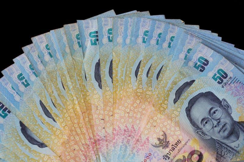 泰国五十泰铢钞票前面  免版税库存照片