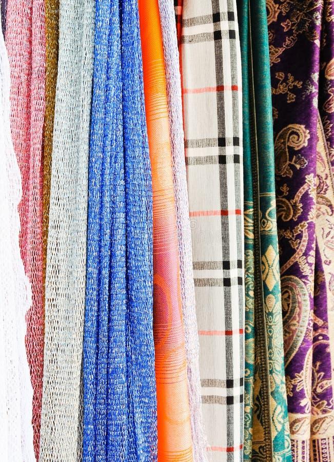 泰国五颜六色的织品 免版税库存照片
