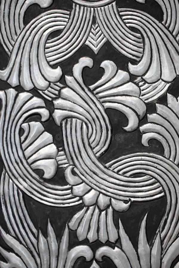 泰国传统工艺样式 库存图片