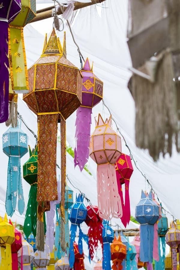 泰国传统灯 免版税库存图片