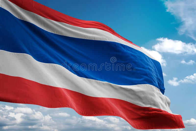 泰国全国沙文主义情绪的蓝天背景现实3d例证 库存例证