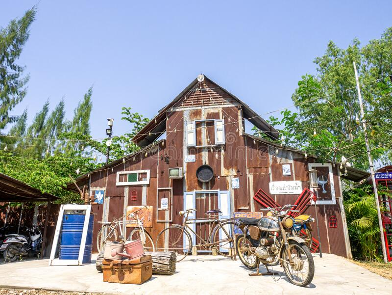 泰国兰邦 — 2020年2月23日:Landmark餐厅ThaifoodThai, Name: High Class Raft 旅游名 免版税库存照片