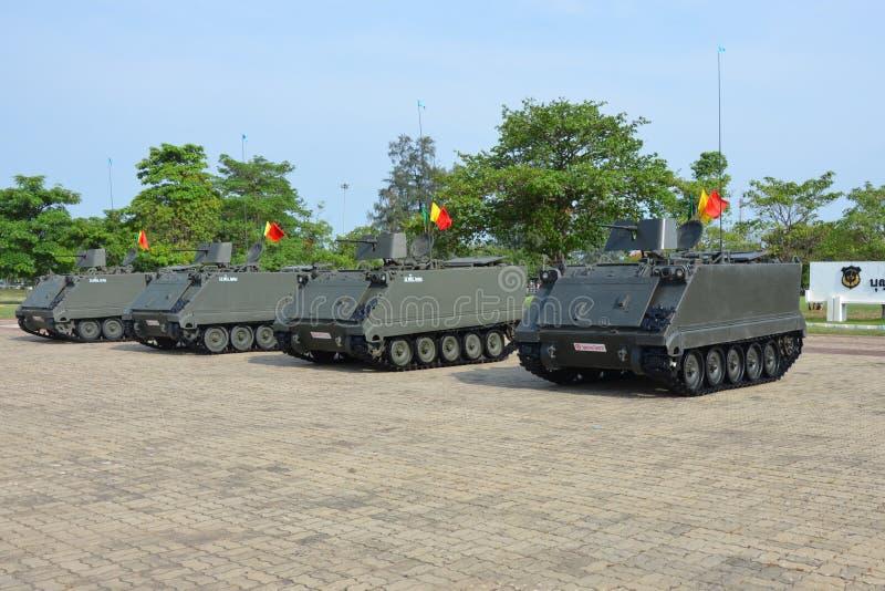 泰国军队坦克车  免版税库存照片