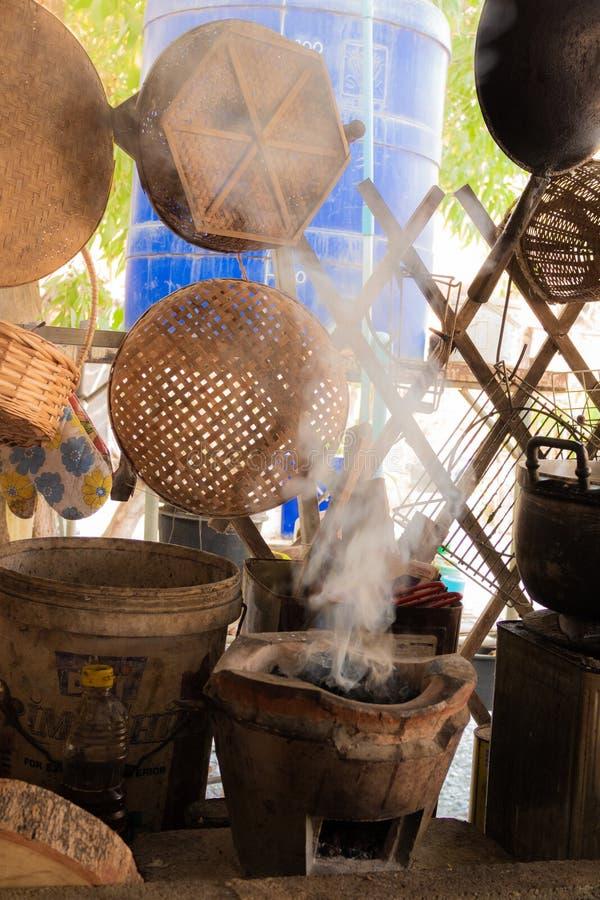 泰国农村厨房 库存照片