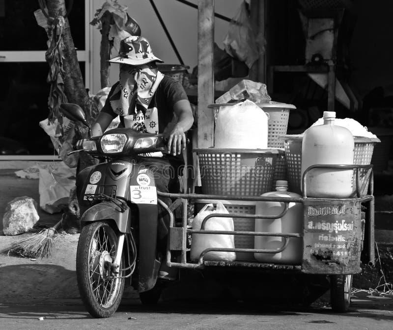 泰国冰送货人 库存照片