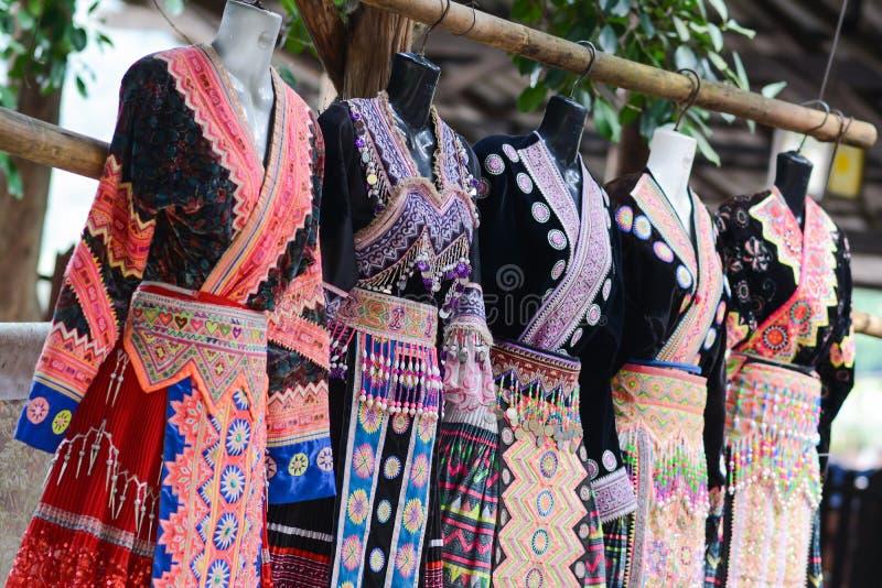 泰国北衣物,美丽的礼服 免版税库存图片