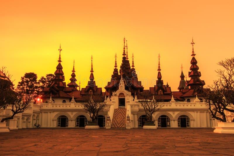 泰国古老样式大厦 免版税图库摄影