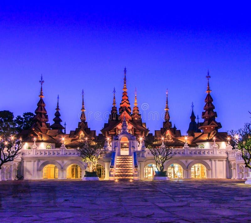 泰国古老样式大厦 库存图片