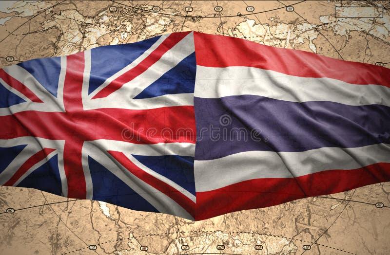 泰国和英国 皇族释放例证
