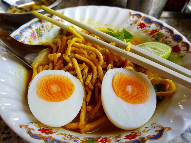 泰国咖喱nooddle 免版税图库摄影
