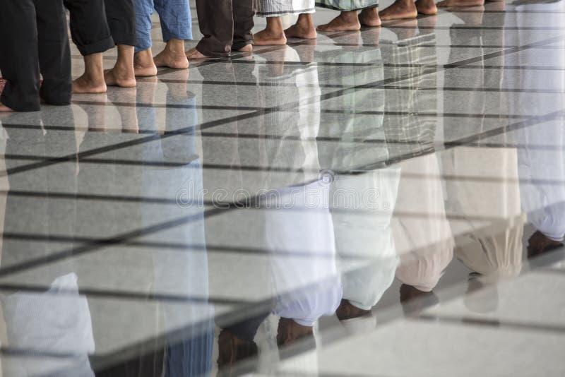 泰国回教祷告时间 免版税库存图片
