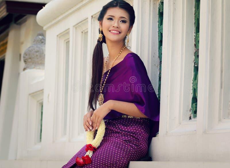 泰国国民服装 免版税图库摄影